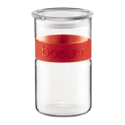 Bodum Банка для хранения Presso (1 л), 17.2х10.4 см, красный bodum банка для хранения presso 2 л черная