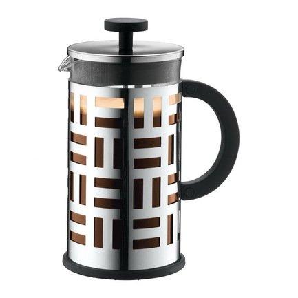 Bodum Кофейник с прессом Eileen (1 л), хром 11195-16 Bodum чайник заварочный с прессом 0 5 л bodum assam хром 1807 16