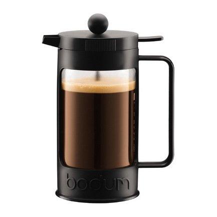 Кофейник с прессом Bean (0.35 л), 7.8х12.2х16.8 см, черный 11375-01 Bodum
