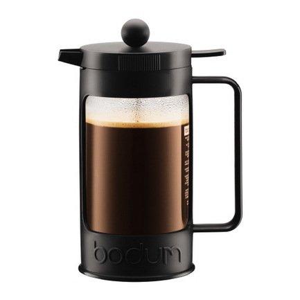 Bodum Кофейник с прессом Bean (1 л), 22.5х17х10.6 см, черный 11376-01 Bodum ями yami рука красные облака стеклянный кофейник кофе горшок 600cc ym5096