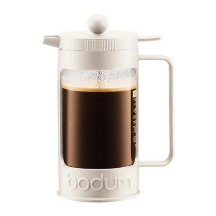 Bodum Кофейник с прессом Bean (1 л), белый 11376-913 Bodum bodum кофейник с прессом caffettiera 0 35 л кремовый