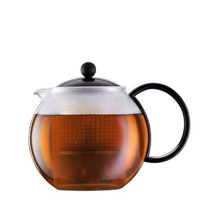 Bodum Чайник заварочный с прессом Assam (1 л), чёрный 1844-01 Bodum cms 26 1 заварочный чайник гибискус pavone