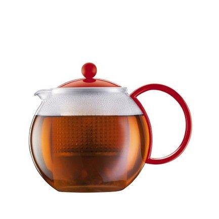 Bodum Чайник заварочный с прессом Assam (1 л), 14.8х19.4х14.2 см, красный 1844-294