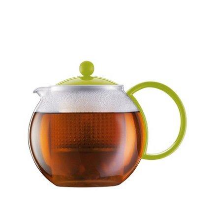 Bodum Чайник заварочный с прессом Assam (1 л), 14.8х19.4х14.2 см, зеленый 1844-565