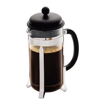 Bodum Кофейник с прессом Caffettiera (1 л), черный 1918-01 Bodum bodum кофейник с прессом caffettiera 0 35 л кремовый