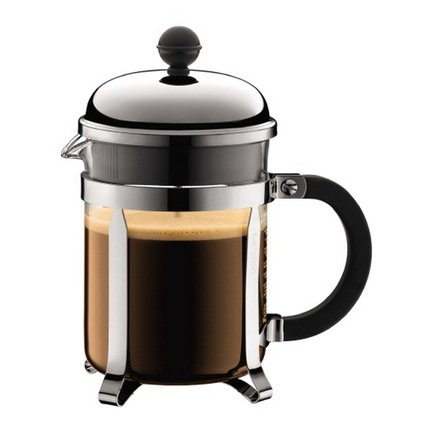 Bodum Кофейник с прессом Chambord (0.5л), 15.5х11.5х20 см, черный 1924-16 Bodum bodum кофейник с прессом chambord 0 35 л с медным покрытием