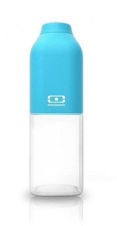 Monbento Бутылка MB Positive M (0.5 л), голубая, 6х19 см monbento соусницы с крышкой mb temple малые 20 мл 2 шт черная белая 4 2х3 2 см