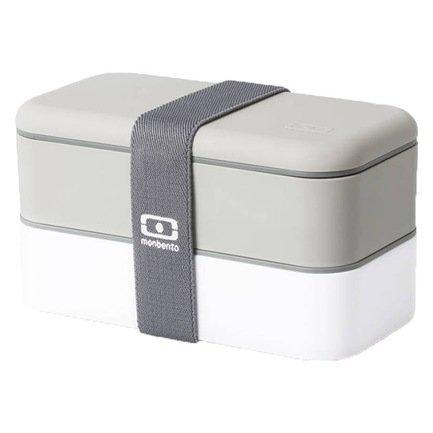 Monbento Ланч-бокс MB Original (1 л), серый/белый, 18.5х9.4х10 см цена 2017
