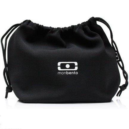 Monbento Мешочек для ланча MB Pochette, 19x20x17 см, черный/белый 1002 02 001 Monbento monbento палочки для суши mb pair 2х13 см белые