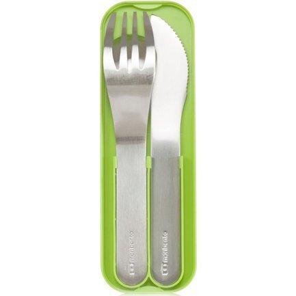 Monbento Набор столовых приборов в футляре MB Pocket, 3 шт., зеленый 1007 01 005 Monbento monbento палочки для суши mb pair 2х13 см белые