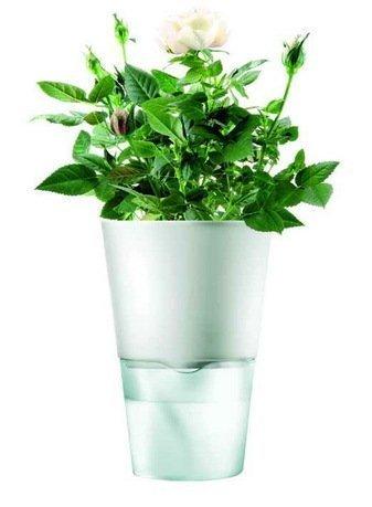 Eva Solo Горшок для растений Herb pot, матово-белый, 11x17.5 см 568103 Eva Solo горшок для растений экочеловеки eco молчун