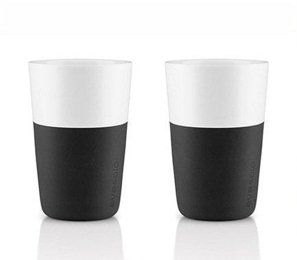 Eva Solo Чашки для латте Latte, черные, 8.5x12.5 см (360 мл), 2 шт. 501003ES