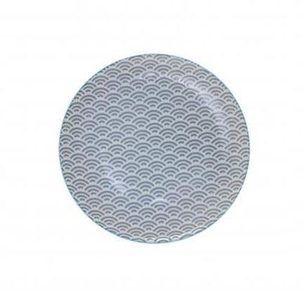 Tokyo Design Тарелка Tokyo Design Star/Wave, серый, 20.6x2.2 см