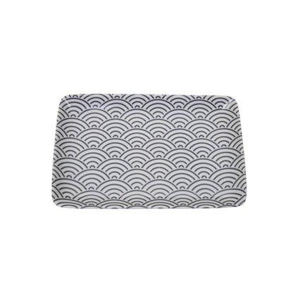 Тарелка Tokyo Design Nippon, черная, 21x13.5x2.5 см 8360