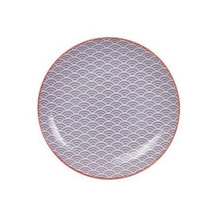 Tokyo Design Тарелка Tokyo Design Star/Wave, сиреневая, 25.7x3 см