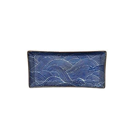 Tokyo Design Тарелка Seigaiha, темно-синяя, 23x11.5x2.3 см 14159