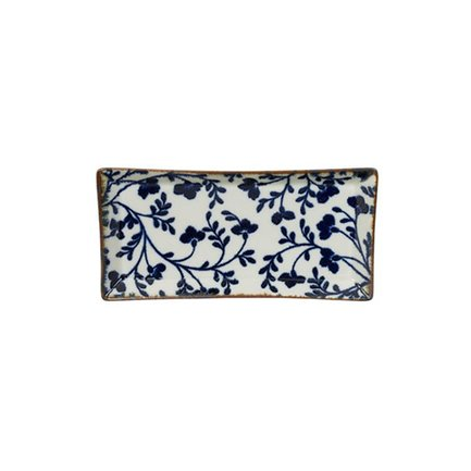 Tokyo Design Тарелка Tokyo Design Fleur De Ligne, белая, 23x11.5x2.3 см 14213 Tokyo Design black sexy lace up design plain halter sleeveless crop top