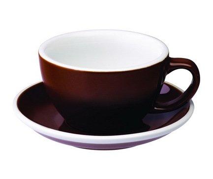 Loveramics Чайная пара Loveramics Egg (0.3 л), коричневая C088-05BBR/C088-06BBR Loveramics чайная пара pavone бабочка 0 2 л с ложечкой