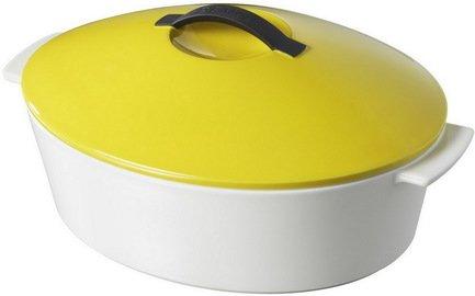 Овальная кокотница 2.4 л, 32.5х26.5х16 см, желтая RV1131-129-2000 00025106 Revol кастрюля овальная для запекания с крышкой 27x20x10 5 см berghoff 4490074