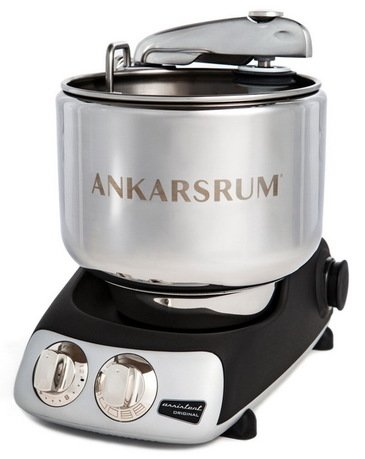 Ankarsrum Кухонный комбайн Original Assistant AKM6220B (7 л), базовый комплект, 26.8х36х40 см, черный матовый