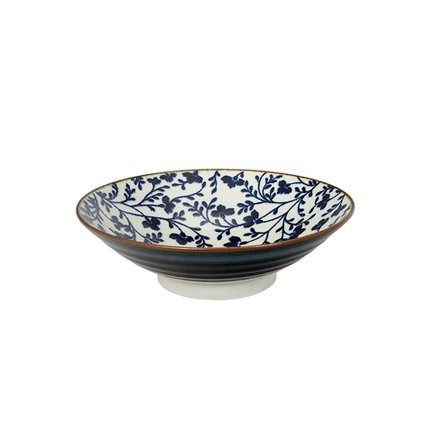 Tokyo Design Чаша Tokyo Design Fleur de Ligne, сине-белая, 24.5x7.5 см 14147 Tokyo Design black sexy lace up design plain halter sleeveless crop top