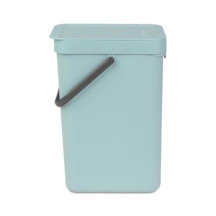 Brabantia Ведро для мусора Sort & Go (12 л), 25х20х35 см, мятное 109744 Brabantia brabantia ведро для мусора brabantia sort&go 12 л серый 5xkgc1v