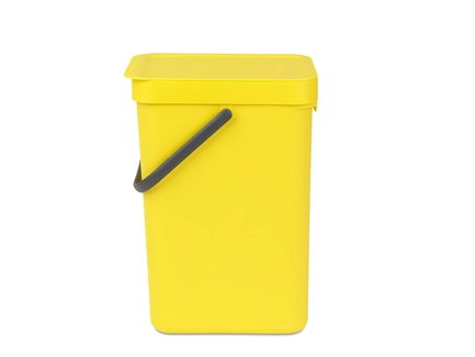Brabantia Ведро для мусора Sort & Go (12 л), 25х20х35 см, желтное 109768 Brabantia brabantia ведро для мусора brabantia sort&go 12 л серый 5xkgc1v