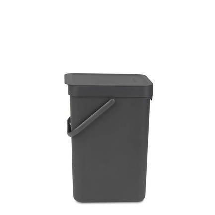 Brabantia Ведро для мусора Sort & Go (12 л), 25х20х35 см, серое