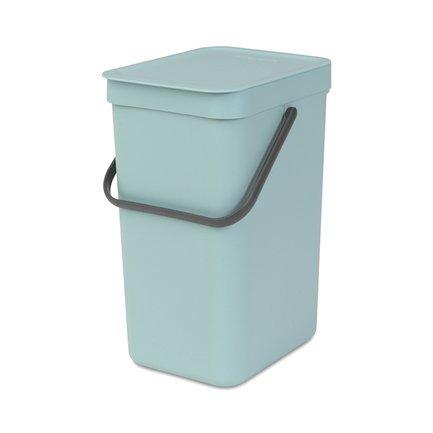 Brabantia Ведро для мусора Sort & Go (16 л), 26.9х22х40 см, мятное 109843 Brabantia brabantia кастрюля vision 1 5 л 16 см