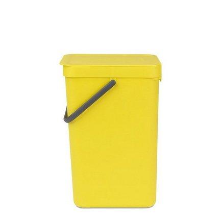 Brabantia Ведро для мусора Sort & Go (16 л), 26.9х22х40 см, желтое