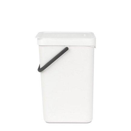 Brabantia Ведро для мусора Sort & Go (16 л), 26.9х22х40 см, белое 109942 Brabantia brabantia ведро для мусора с педалью 12 л 25х40х25х35 см белое 127021 brabantia