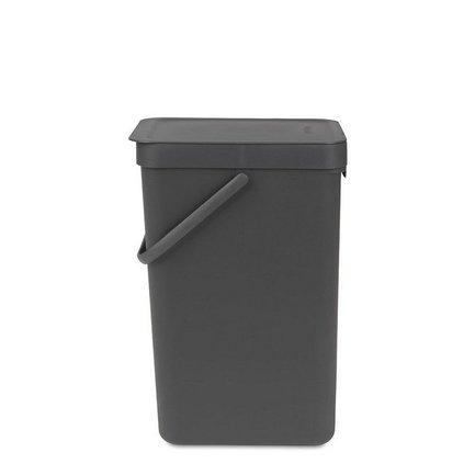 Brabantia Ведро для мусора Sort & Go (16 л), 26.9х22х40 см, серое brabantia brabantia 389146