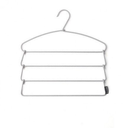 Brabantia Плечики для брюк Soft Touch, 41х42 см, серый