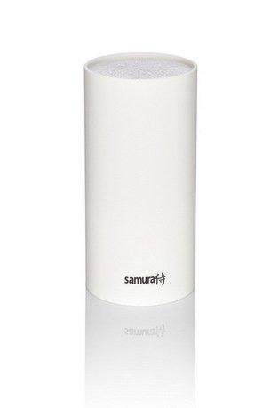 Samura Подставка универсальная для ножей Samura, 22.5 см, пластиковая, белая аксессуар samura подставка для ножей black kbf 102