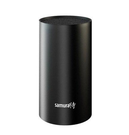 Samura Подставка универсальная для ножей Fusion, 18 см, пластиковая, черная набор из 4 ножей и подставки samura bamboo в подарочной коробке
