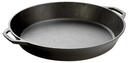 Lodge Сковорода круглая с двумя ручками, 44 см, черная L17SK3 Lodge lodge сковорода чугунная круглая 26 см с двумя ручками l8sk3 lodge