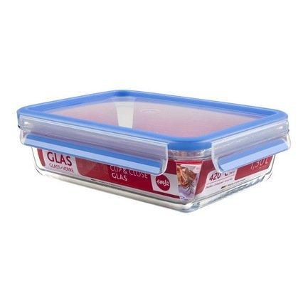 EMSA Контейнер стеклянный прямоугольный Clip&Close Glass 513920 (1.3 л) контейнер прямоугольный emsa clip