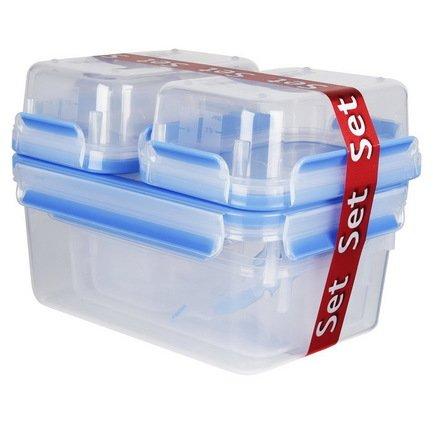EMSA Набор пластиковых контейнеров с крышкой Clip&Close 515562, 7 шт emsa clip