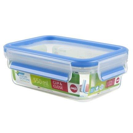EMSA Контейнер пластиковый прямоугольный Clip&Close 508538 (0.55 л) 60555 EMSA контейнер для торта emsa superline с охлаждающим элементом цвет голубой 2 л