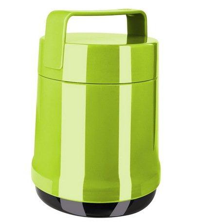 лучшая цена EMSA Термос для еды Rocket 514534 (1 л), 2 контейнера, зеленый 62206 EMSA