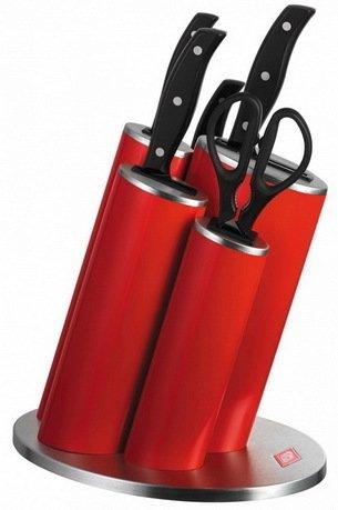 Wesco Набор ножей Азия, в подставке, красный 322631-02 Wesco wesco чайник 2 75 л красный 340520 02