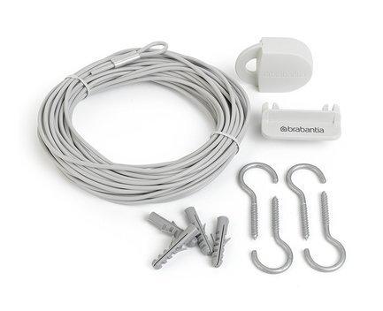 Brabantia Комплект бельевой веревки, 12 м, белый brabantia комплект бельевой веревки 12 м белый