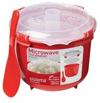 Sistema Рисоварка Microwave (2.6 л), 21.6х19.5х16.1 см, красная 1110 Sistema бутылка для воды sistema hydrate трио цвет фиолетовый 480 мл 820