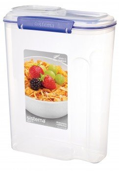 контейнер для еды sistema круглый контейнер для продуктов sistema 1 5л Sistema Контейнер для хлопьев Klip IT Utility (4.2 л), 21.5х11.5х28.5 см, синий