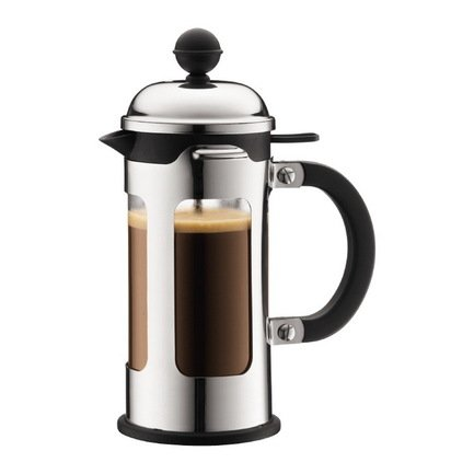 Bodum Кофейник с прессом Chambord (0.35 л), хром 11170-16 Bodum чайник заварочный с прессом 0 5 л bodum assam хром 1807 16