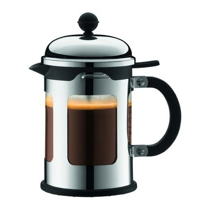 Bodum Кофейник с прессом Chambord (0.5 л), хром 11171-16 Bodum чайник заварочный с прессом 0 5 л bodum assam хром 1807 16