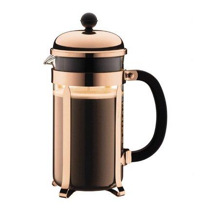 Bodum Кофейник с прессом Chambord (1 л), с медным покрытием 1928-18 Bodum bodum кофейник с прессом chambord 0 35 л с медным покрытием