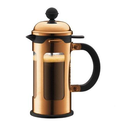 Bodum Кофейник с прессом Chambord (0.35 л), с медным покрытием 11170-18 Bodum bodum кофейник с прессом chambord 0 35 л с медным покрытием