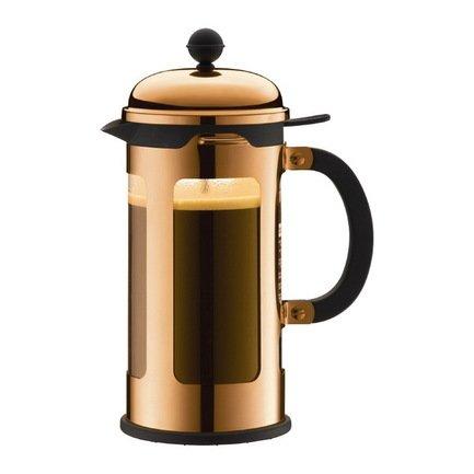 Bodum Кофейник с прессом Chambord (1 л), с медным покрытием 11172-18 Bodum bodum кофейник с прессом chambord 1 л золотой