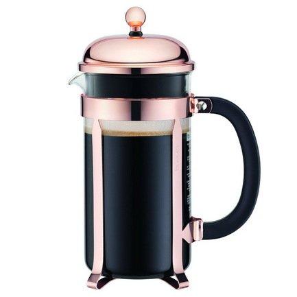 Bodum Кофейник с прессом Chambord (1 л), с медным покрытием 11652-18 Bodum bodum кофейник с прессом chambord 1 л золотой